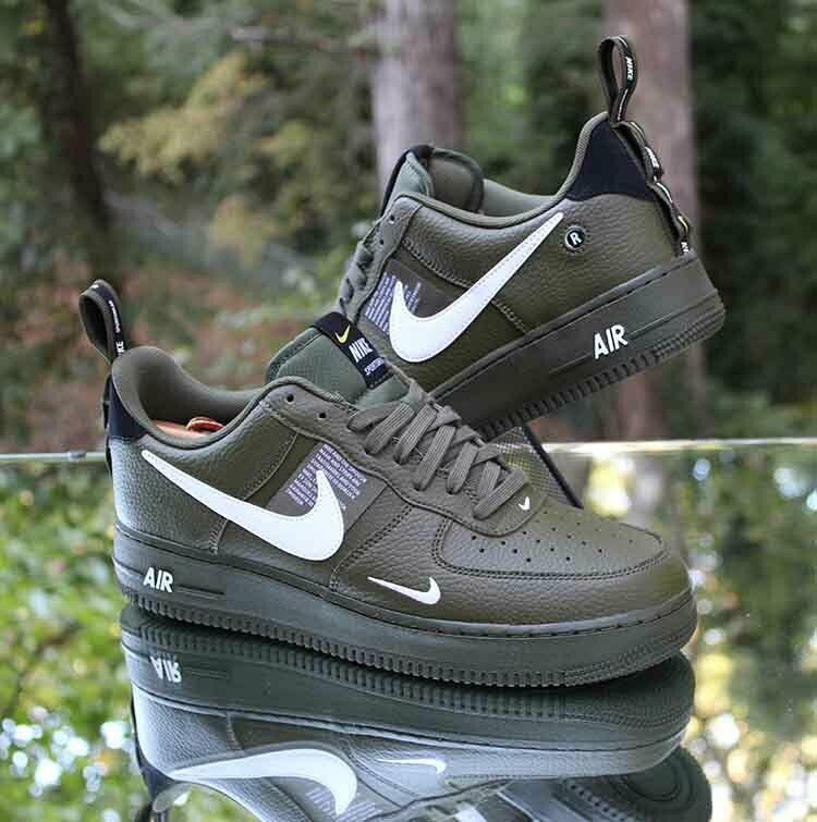 Explícito tipo ayuda  Nike Air Force 1 '07 LV8 Utility Olive Green Men's Size 10 White AJ7747-300  #Nike #AthleticSneakers | Nike air force, Nike air, Nike