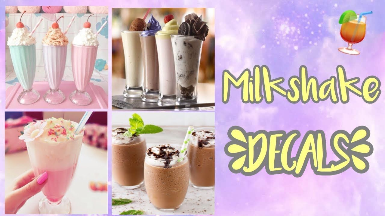 Roblox Bloxburg - Milkshake Decal Id's - YouTube | Blosbrug
