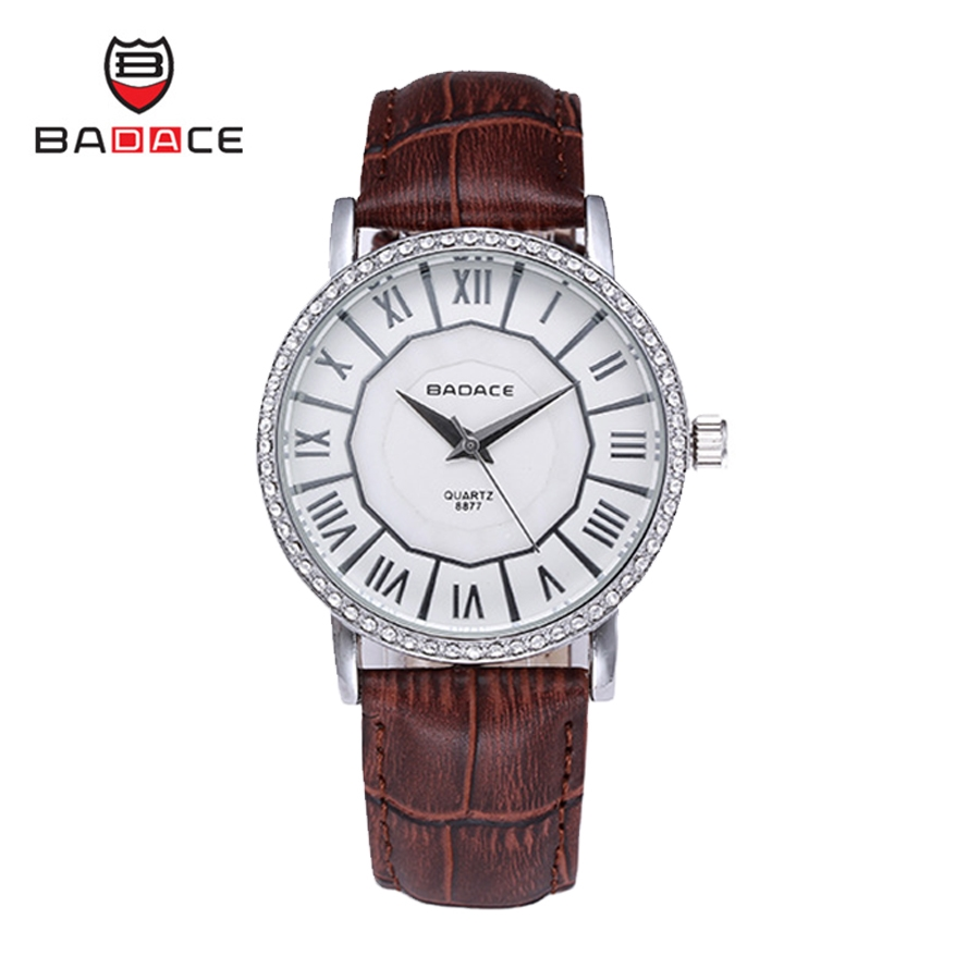 11.19$  Watch here - http://aliymm.shopchina.info/go.php?t=32712870302 - BADACE Roman Style Set Auger Genuine Leather Band Men Watch Waterproof Quartz-Watches Casual Male Mens Wristwatches 8877  #aliexpress