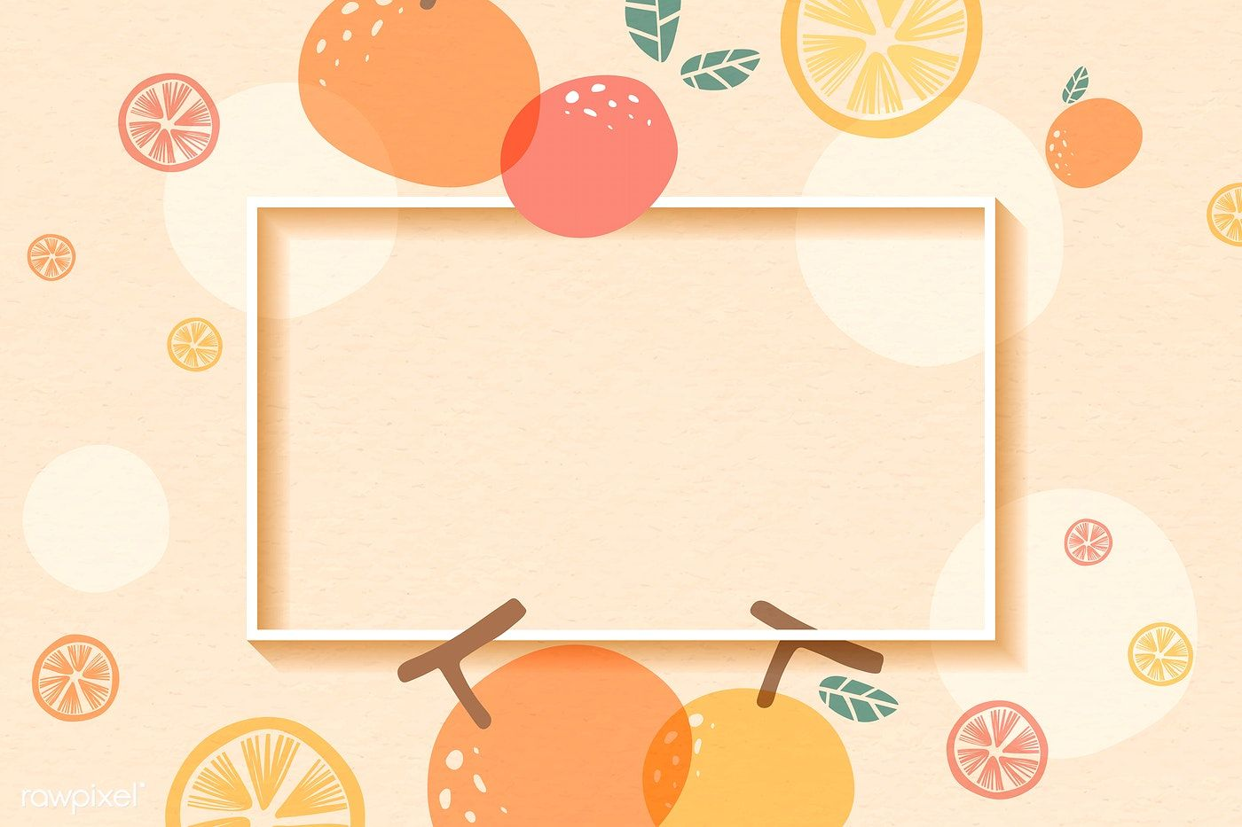 Download Premium Vector Of Frame On An Orange Patterned Background With Frame Graphic Design Background Templates Note Doodles