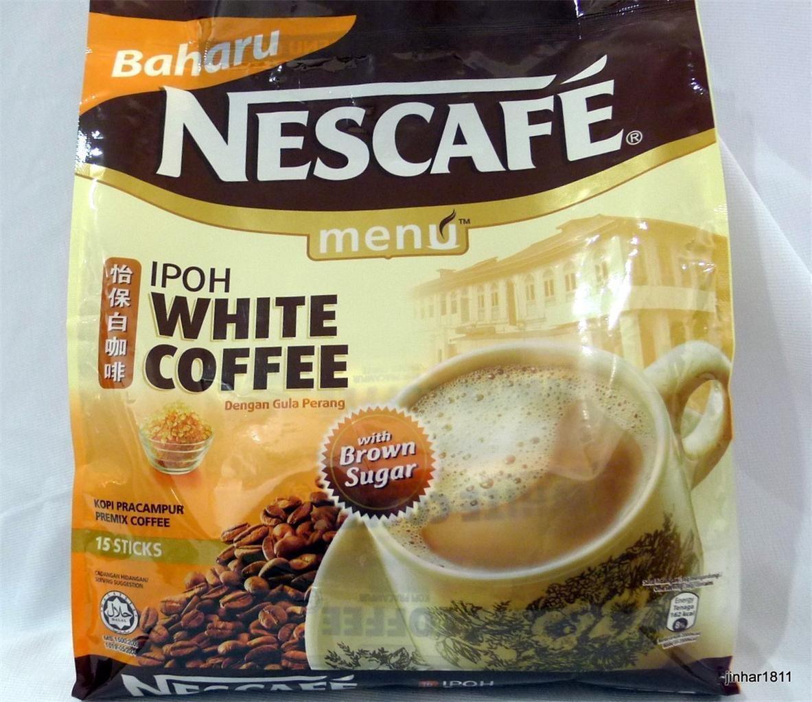 1 Bag Nescafe Oh So Dreamy Ipoh White Coffee Brown Sugar Free Kopi Wihte Pack Menu Premix Express Shipping