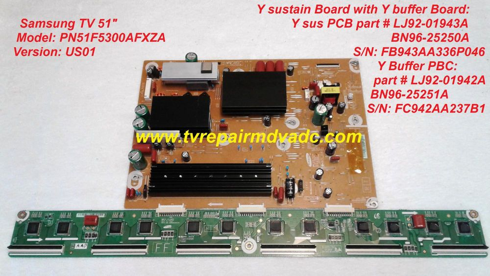 Samsung Y sus PCB: BN96-25250A with Buffer PCB: BN96-25251A  Kit