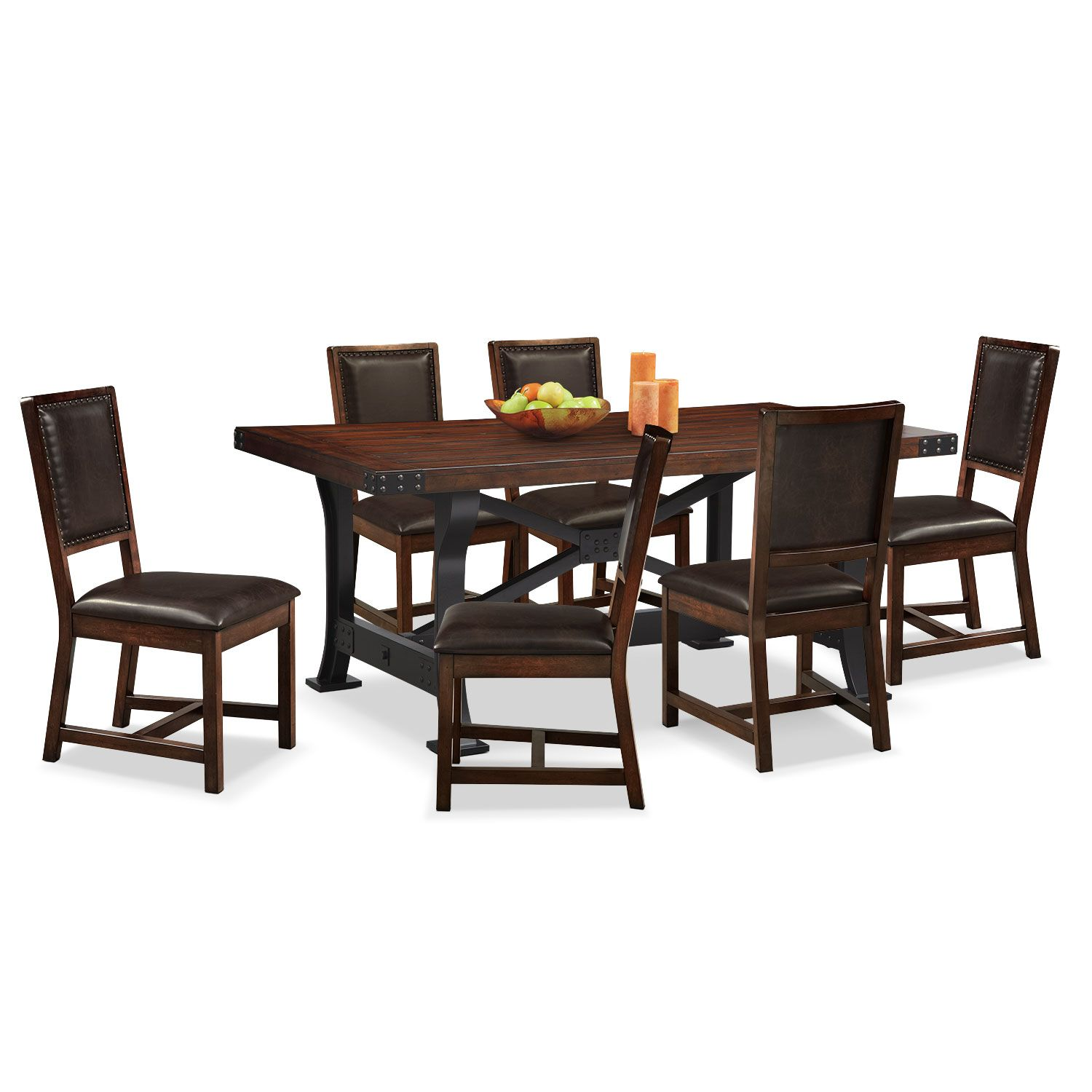Dining Room Furniture  Newcastle Standard Height 7 Pcdining Magnificent Value City Kitchen Sets Decorating Design