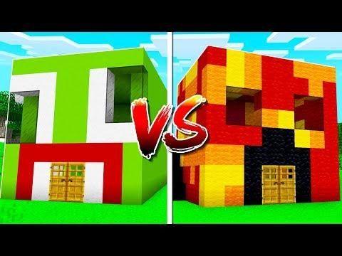 Unspeakable House Vs Preston House In Minecraft Preston