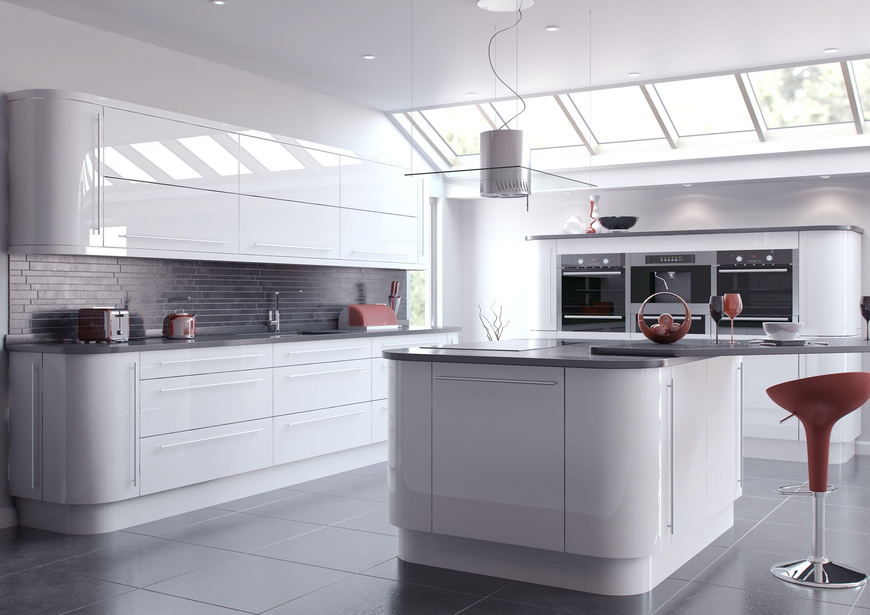 Slab kitchen cabinets  White Slab Door Kitchen Cabinets  franzdondi  Pinterest