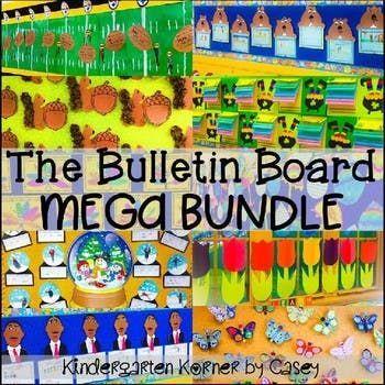 Bulletin Board MEGA Bundle - 10 Seasonal Sets for the ENTIRE YEAR! K ...
