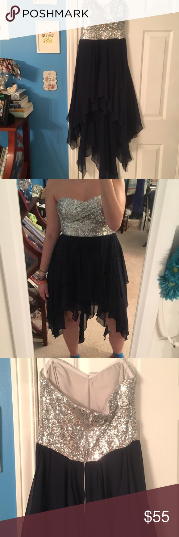 Highlow prom dress nwot high low prom or special event dress
