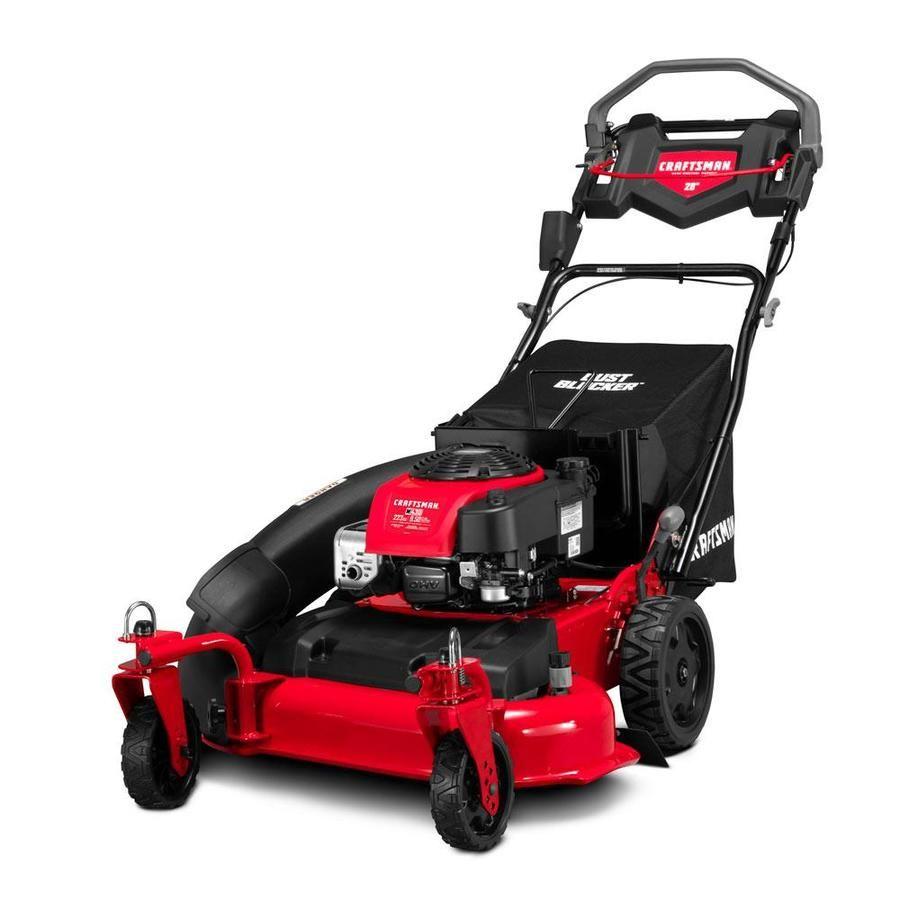 Craftsman Craftsman M430 223 Cc 28 In Self Propelled Gas Push Lawn Mower With Briggs Stratton Engine Lowes Com In 2021 Lawn Mower Push Lawn Mower Lawn Mower Storage