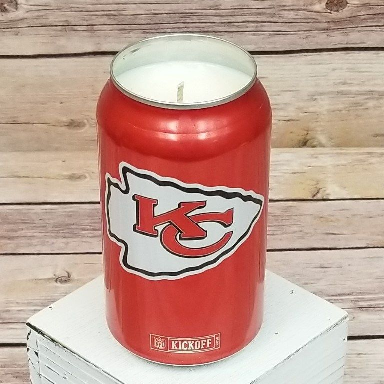 Bud Light 2018 NFL Kansas City Chiefs Football Beer Can Soy Wax Candle with Custom Scent (Can from Canada) | 716 Candle Co.