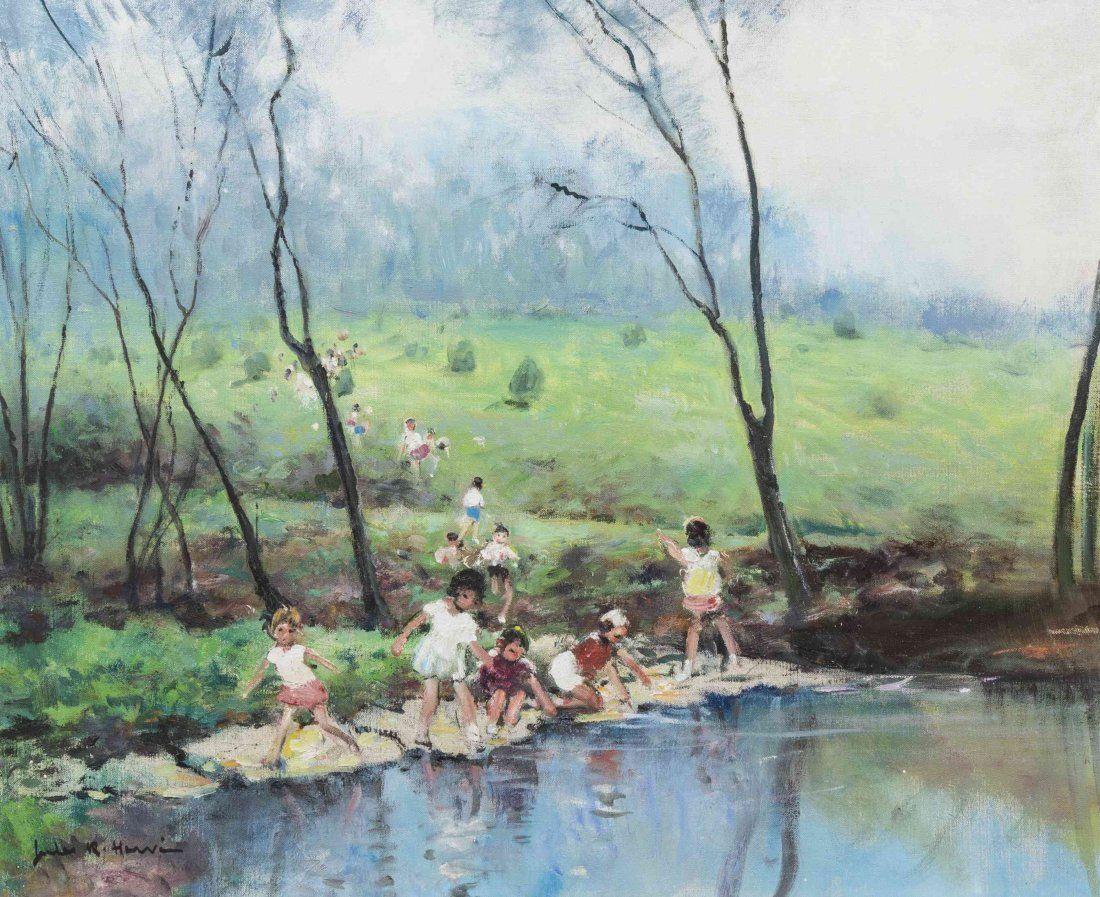 Jules-René Hervé - Enfants au ruisseau