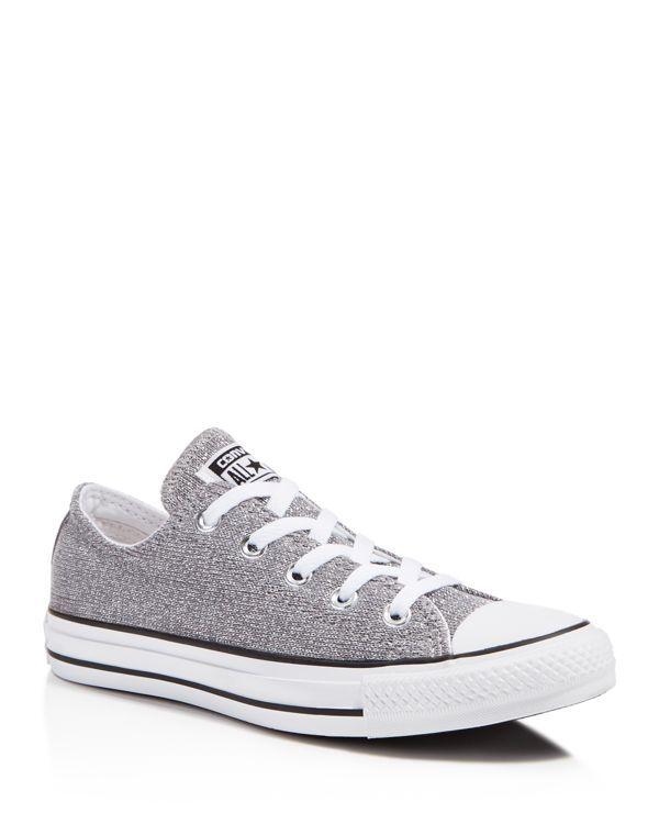 a565e2edbb361f Converse All Star Sparkle Knit Low Top Sneakers