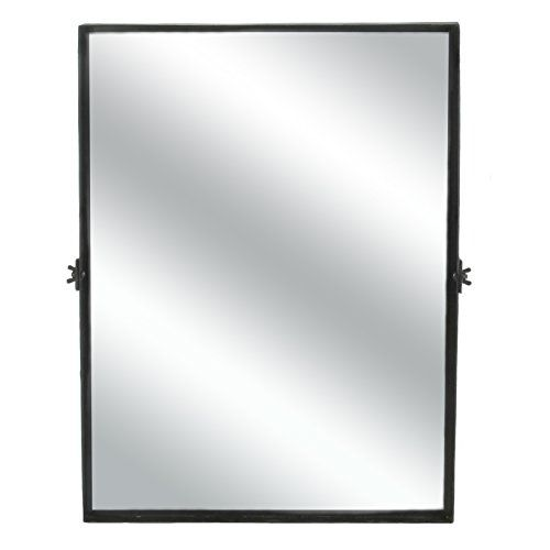 Amazon Com Adjustable Rectangle Tilting Vanity Mirror Wall Mounted 24 Bathroom Makeup Home Rectangular Bathroom Mirror Black Mirror Frame Rectangle Mirror