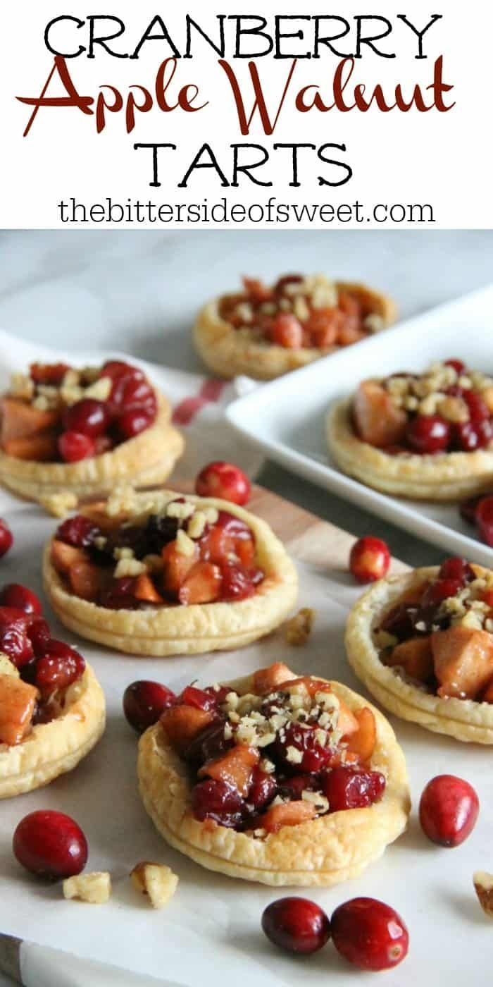 These Cranberry Apple Walnut Tarts would be the perfect addition to your holiday dessert table Perfect for when you want to make individual desserts  The Bitter Side of S...