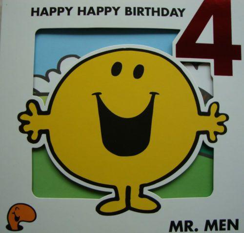 Mr Men Little Miss Birthday Card Age 3 4 5 Mr Men Little Miss Mr Men Birthday Cards