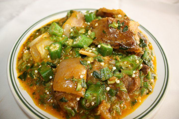 Sauce gombo avec kpanman plat africain pinterest - Specialite africaine cuisine ...