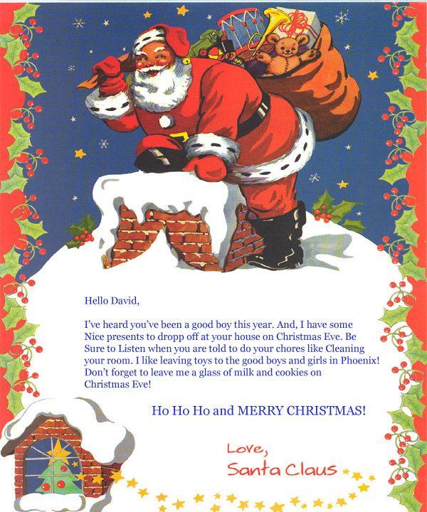 Chrismtas Letter From Santa  Printable Santa Letter  Merry