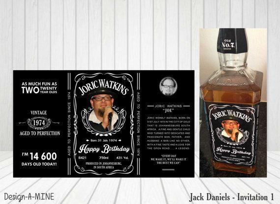 Jack Daniels Label This Personalised Printable Jack Daniels