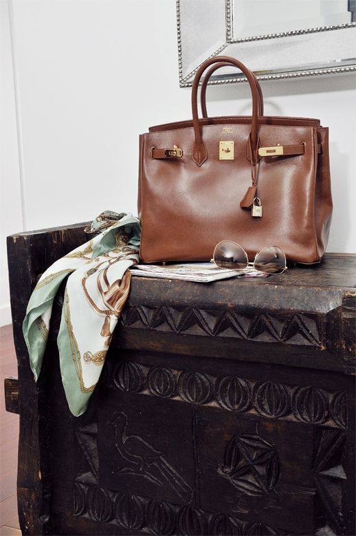 Iconic Hermes Bag And Scarf Frockage Birkin It Will Be Mine One Day Oh Yes In Cognac A Girl Can Dream