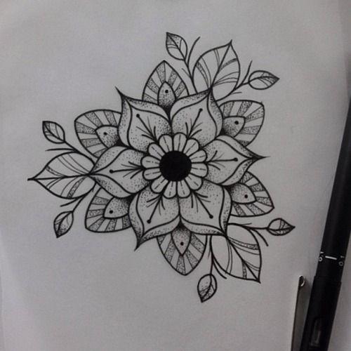 mandala flower tattoos pinterest mandala flower and