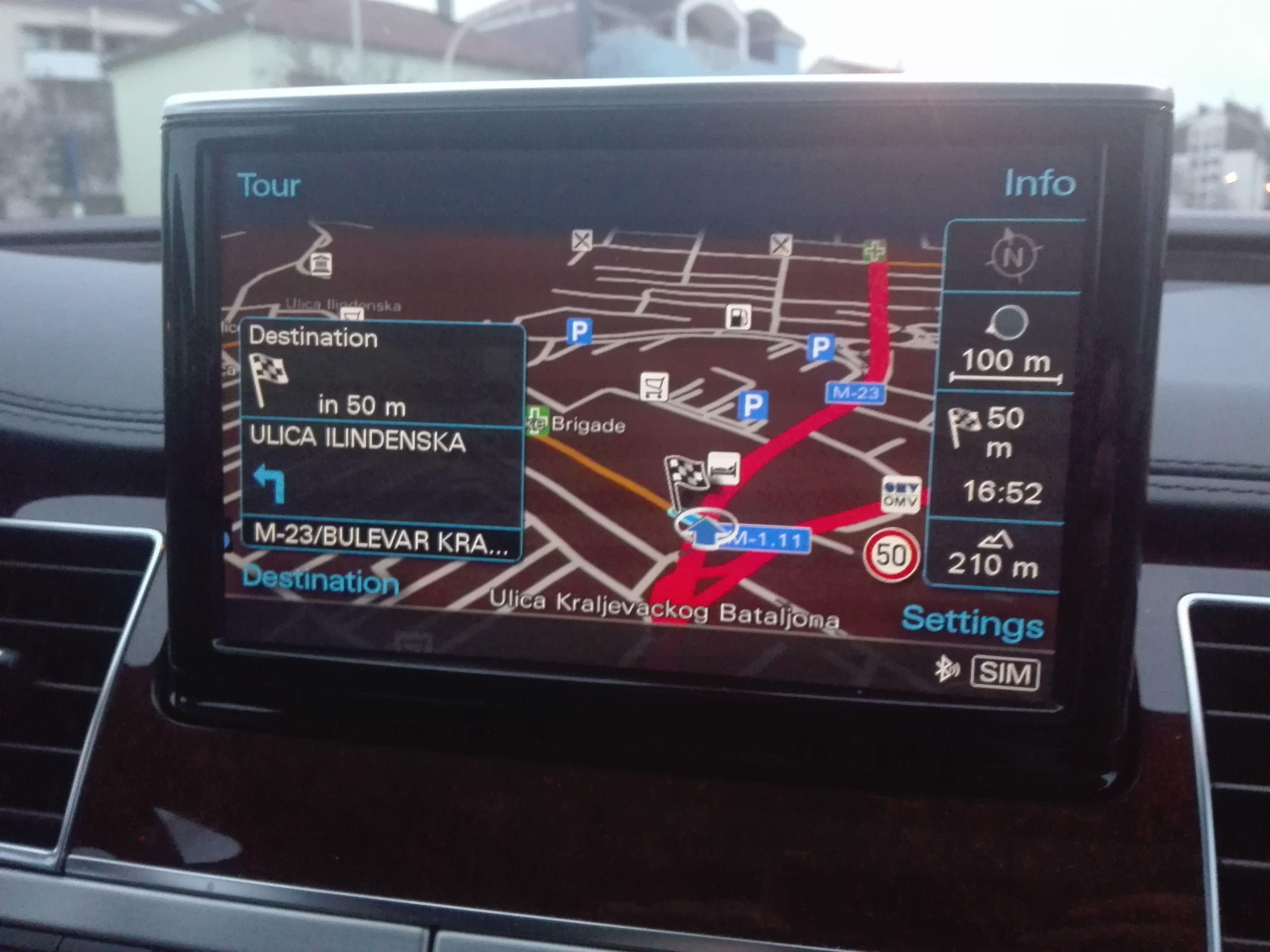 Navigacione mape Evrope 2019 za Audi MMI 3G Plus fabričke navigacije