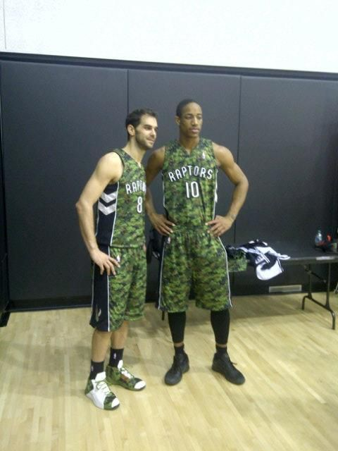 3e8d5aa35be DeRozan Going to War with new camouflage Raptor uniforms | Misc ...