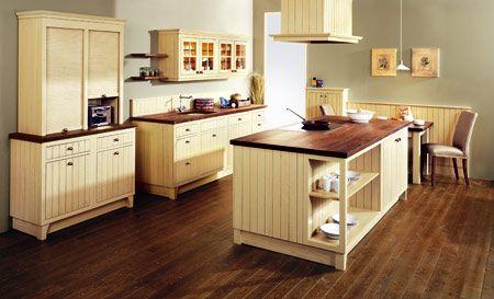 Landhausküche in vanille Landhausküche