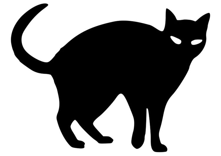 Dibujo Para Colorear Gato Negro Gab Black Cat Silhouette Cat