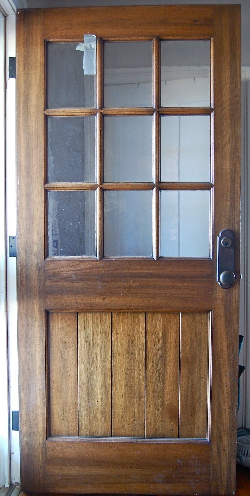 Solid oak farmhouse door perfect with a screen door for for Back entry doors for houses
