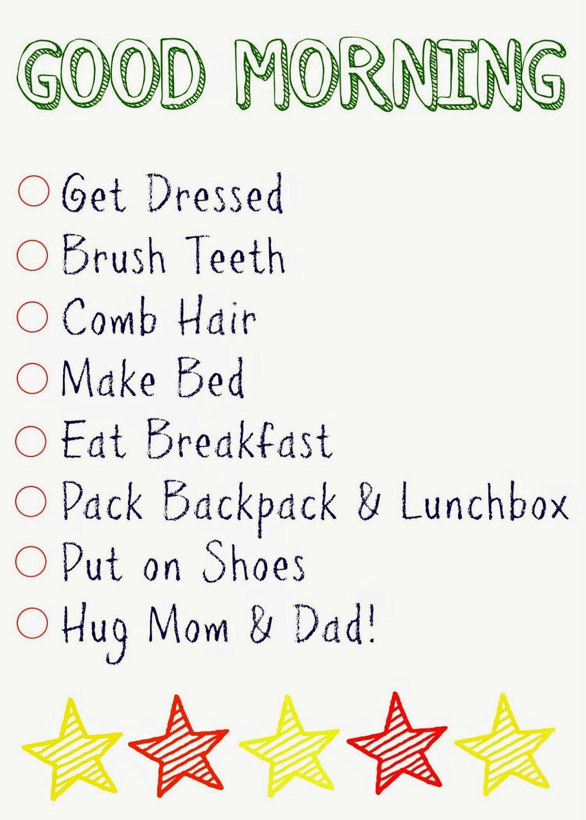 Kids Daily Checklists