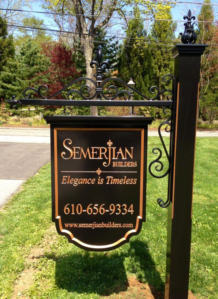 Custom Builder Signs   Semerjian Custom Home Builder Signs.