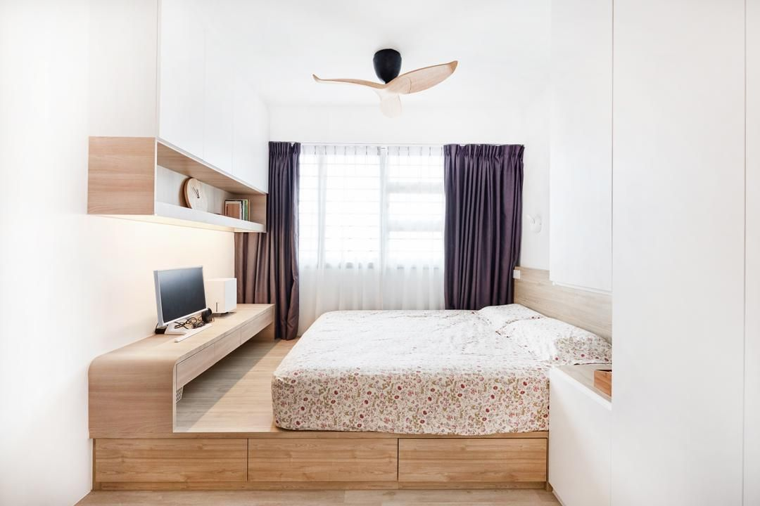 Clementi Avenue 4 Interior Design Renovation Projects In Singapore Bedroom Interior Small House Interior Design Interior Design Bedroom