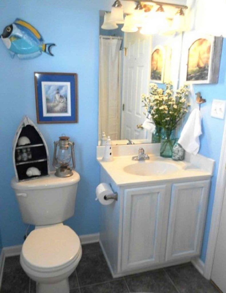 Beach theme for small bathroom