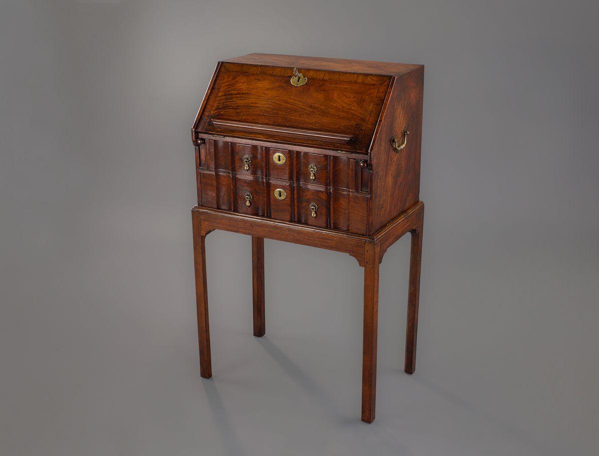 Worboys antiques clocks george iii walnut bureau