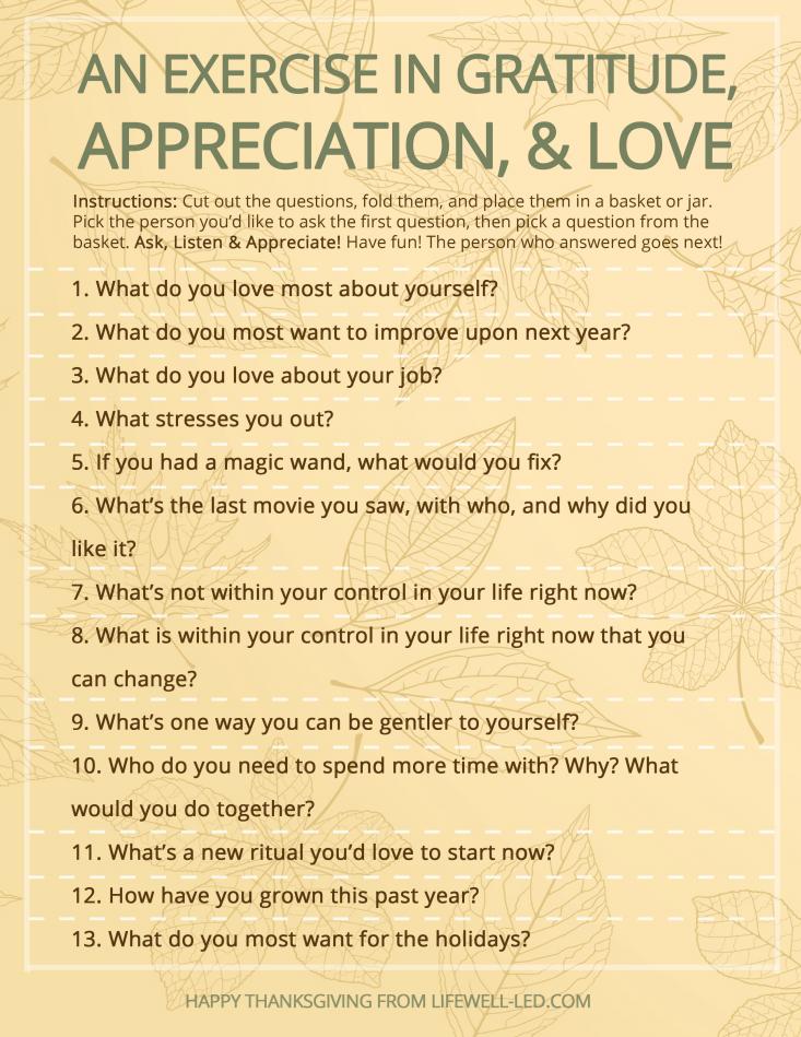 Thanksgiving Gratitude Exercise   Gratitude activities