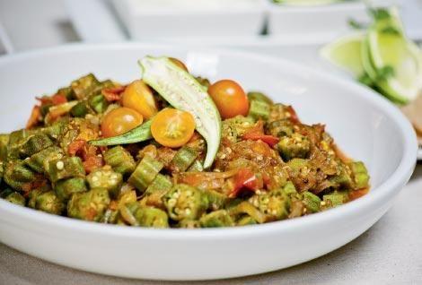 Bhindi Masala, okra in a classic Indian dish