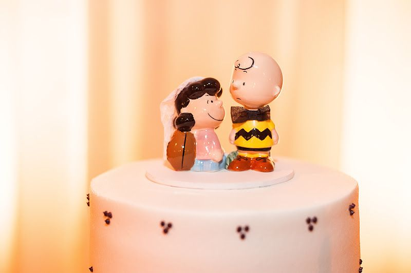 Mrs. Coyote\'s semi-DIY Charlie Brown and Lucy cake topper. Photo by ...