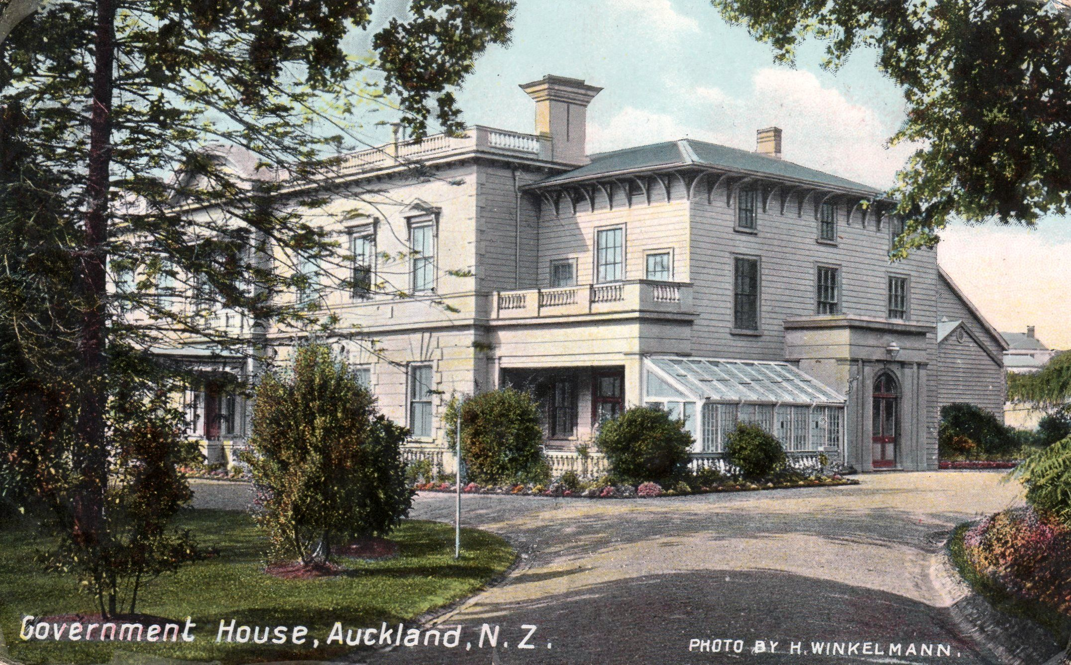 Government House In Auckland 1910 House Auckland House Styles