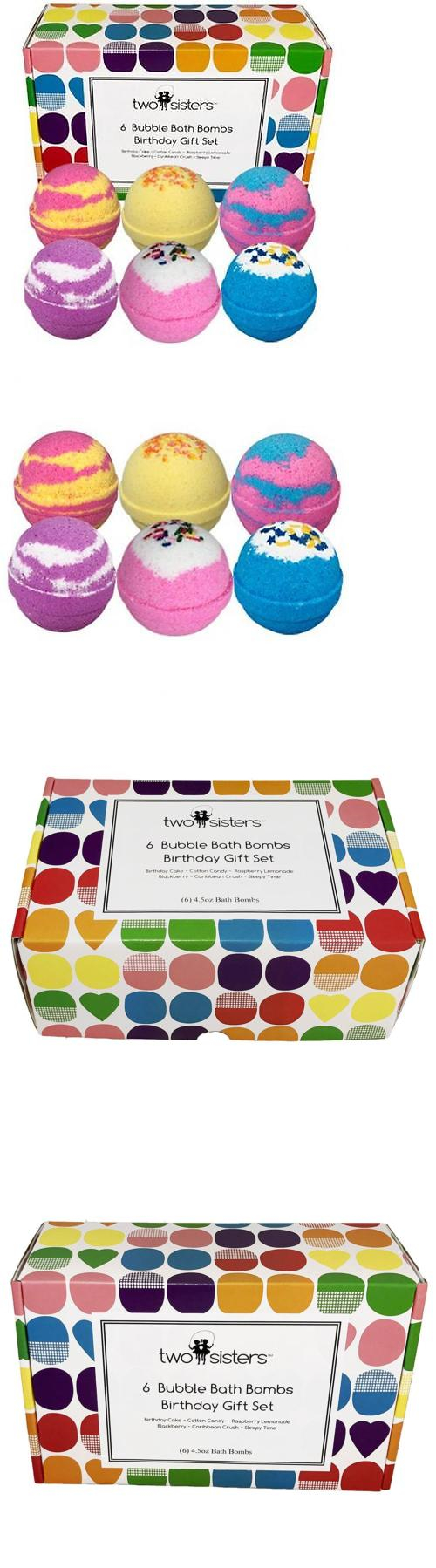 Bath Bombs and Fizzies: 6 Bubble Bath Bombs - Birthday Gift Set ...