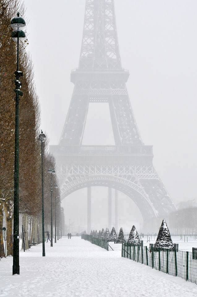 Winter in Paris #eiffeltower Winter in Paris
