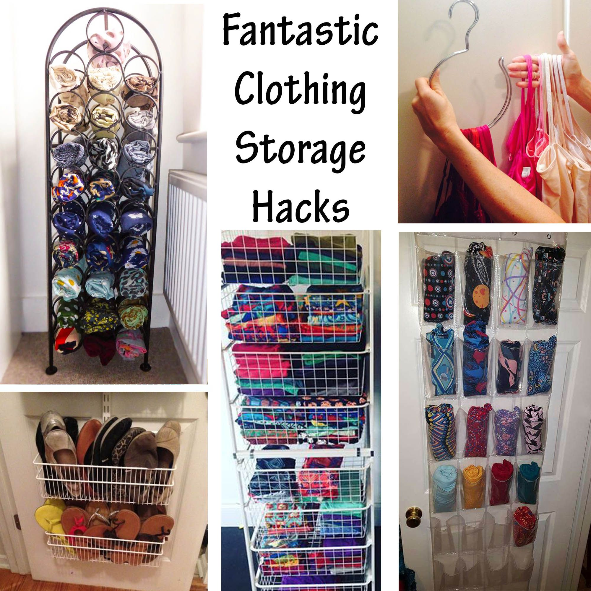 FANTASTIC CLOTHING STORAGE HACKS Bedroom storage ideas