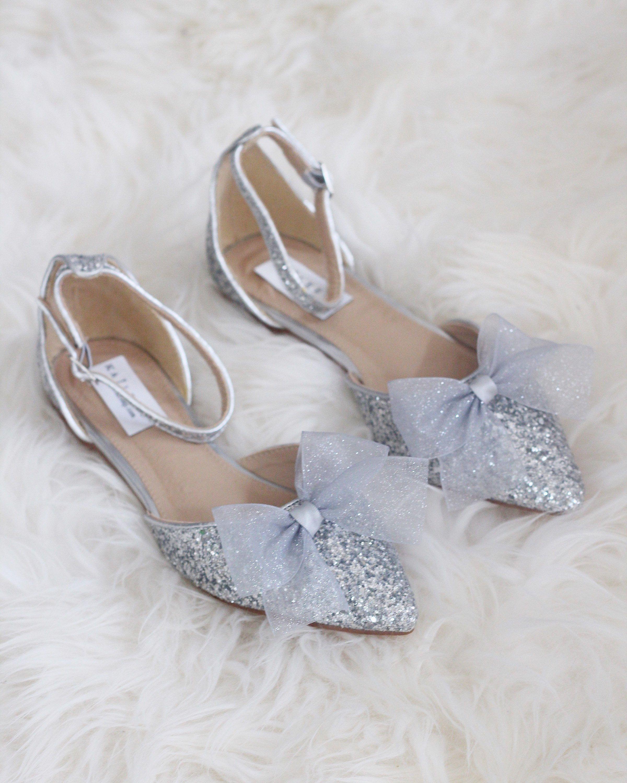 dbbc46e2d039 Women Wedding Shoes Bridesmaid Shoes SILVER ROCK Glitter  weddingshoes