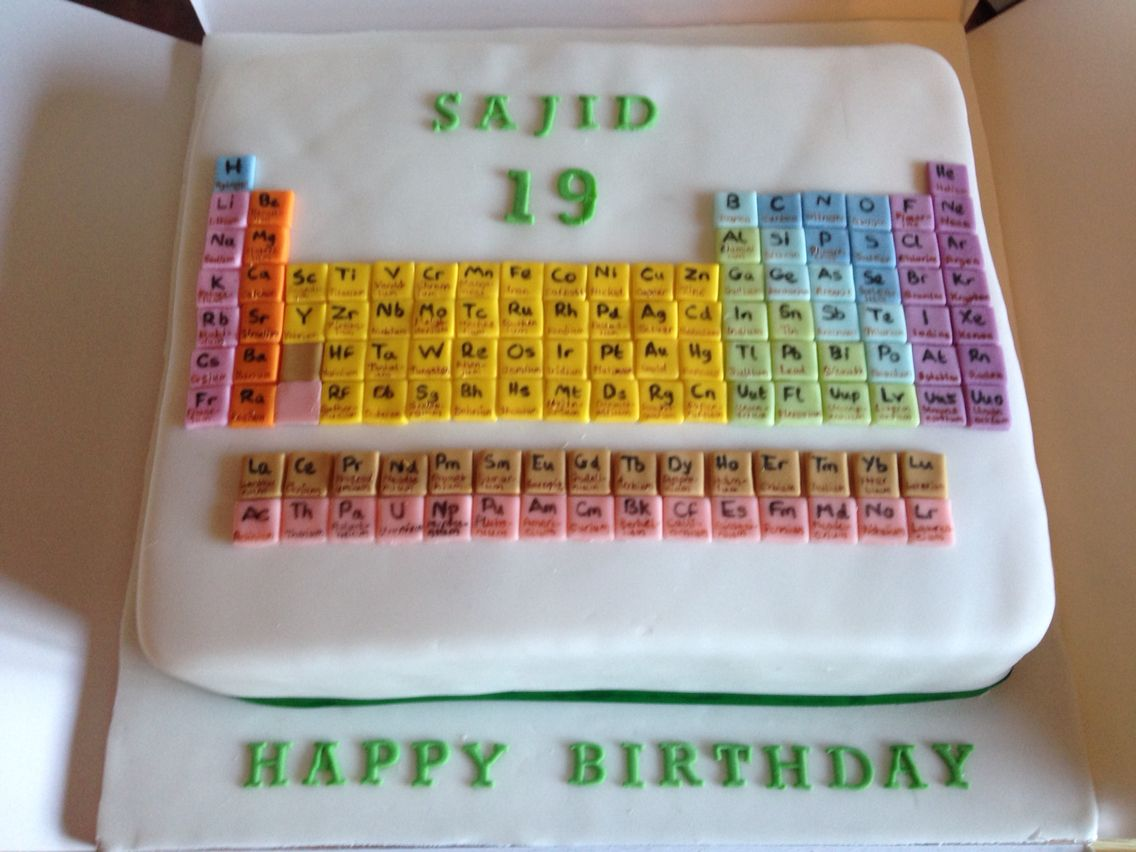Periodic table cake my cakes pinterest periodic table and cake periodic table cake gamestrikefo Choice Image