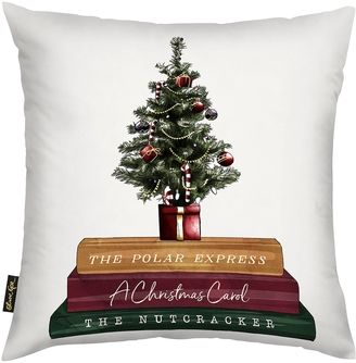 Oliver Gal Christmas Tree and Storytime Books Pillow      #Christmas  #Christmastree #Christmaseve #Christmastime #Winter #Christmas #Christmasparty  #Christmaslights #ad #Christmaspresent #Xmas #December  #GivingIsAwesome #Cold #Santa #Snowing #Santaclause #Christmasday  #MerryChristmas #Snowman #Family #Love #Feliznavidad #Holidays #Presents #Gifts  #Warm #Celebrate #santaclause