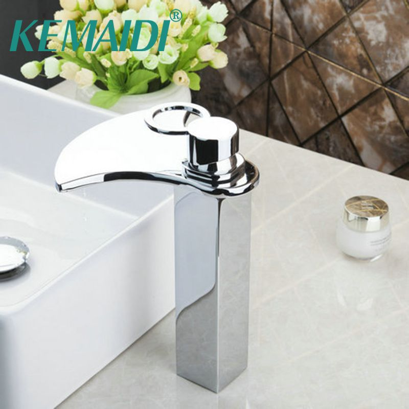KEMAIDI Bathroom Bath Basin Lavatory Plumbing Fixtures Sink Grifos Tap  Mixer Faucet Tall Spout Solid Brass
