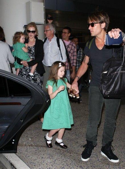 Keith Urban - Nicole Kidman and Family Arrive at LAX