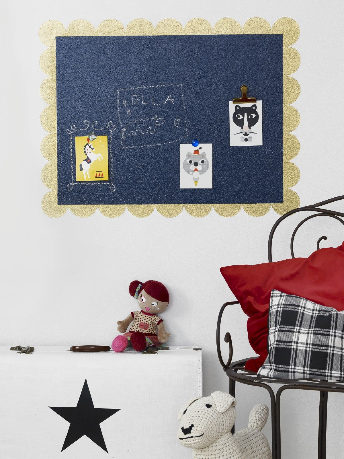 The Liitu Chalkboard paint also comes in a ready made black for a ...