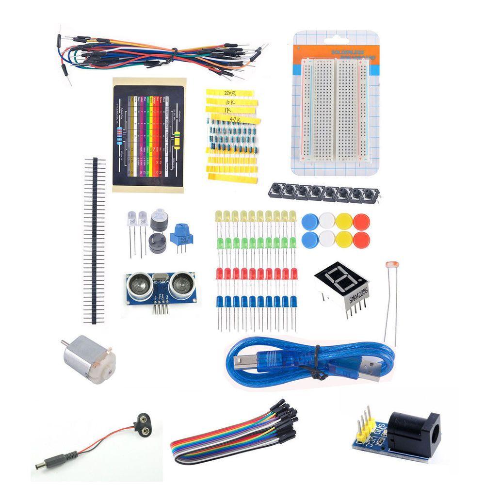 led experiment learning kit breadboard ultrasonic sensor motor cable