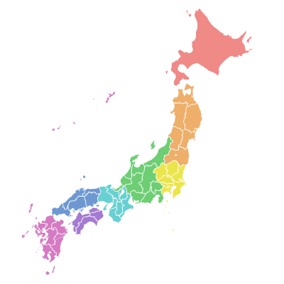 HTMLとCSSを使って日本地図を簡単に表示できるシンボルフォント