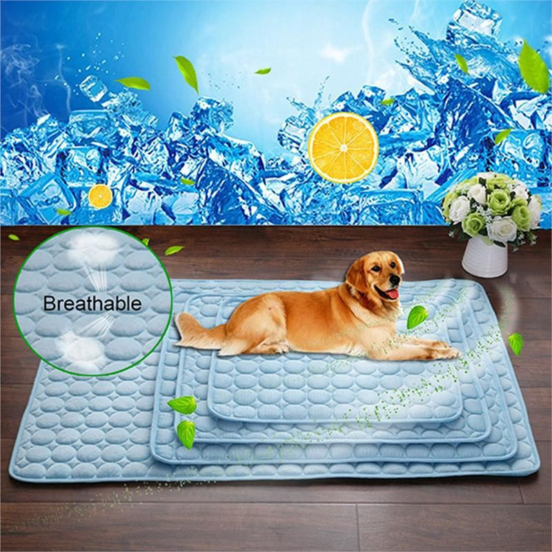 Solid Color Blanket Cooling Padded Pet Accessories Sofa Pet Dog Yoga Portable Moisture Proof Summer In 2020 Dog Cooling Mat Dog Pet Beds Pet Cooling Mat