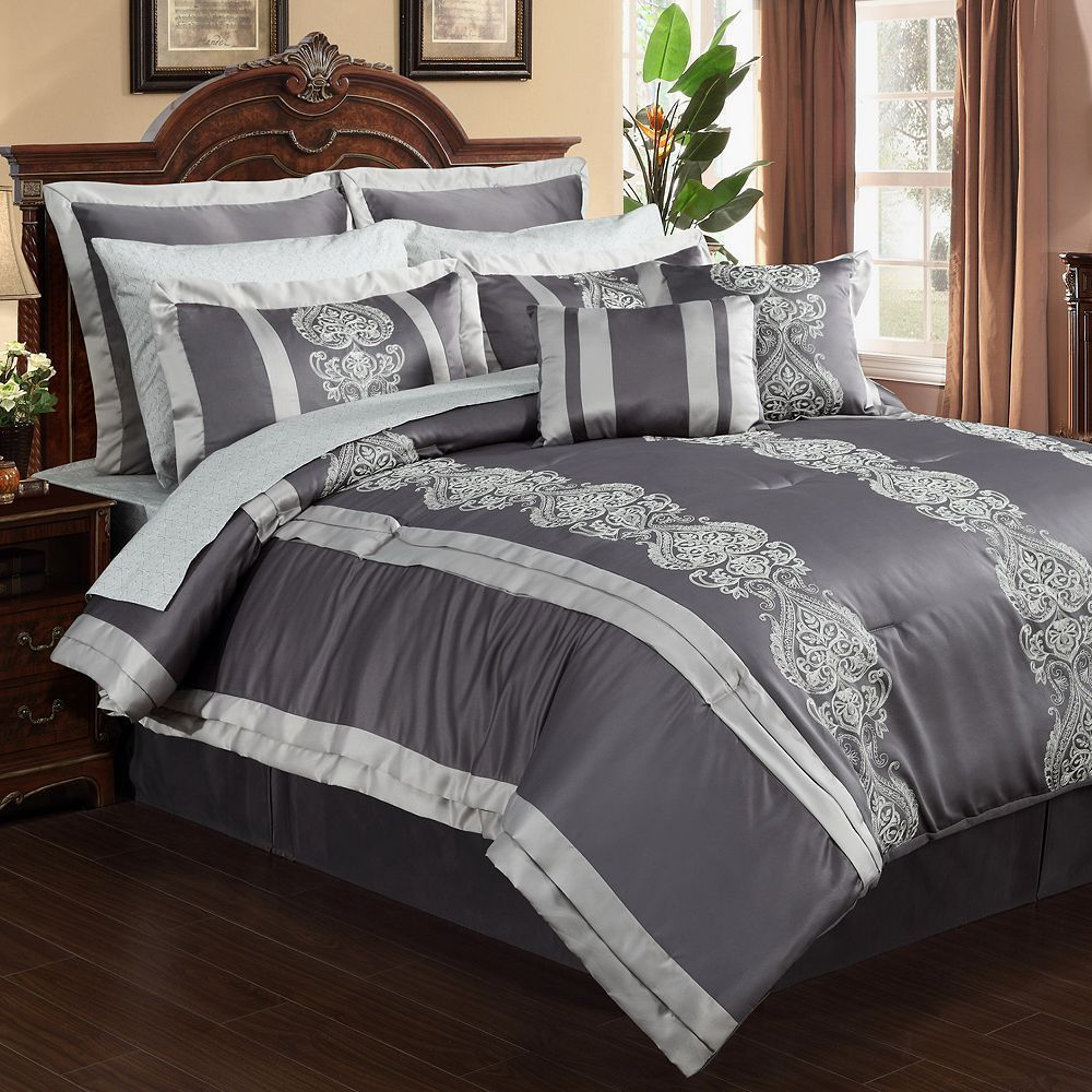 Dynasty 12-pc. Bed Set, Grey